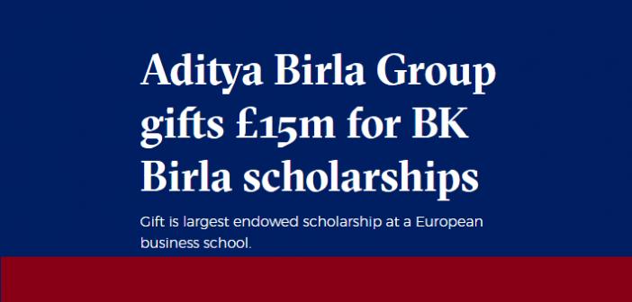 LBS Alumnus Kumar Mangalam Birla Announces £15 Million Scholarship Endowment