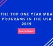 Kellogg on Top Among One Year MBA Programs in the U.S.