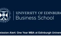 One Year MBA at Edinburgh University, 5th Round Applications Close on March 11