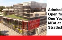 Admission Open for One Year MBA at Strathclyde