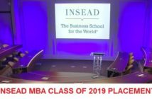 INSEAD One Year MBA Class of 2019 Bag Average Salary of US$ 92,800